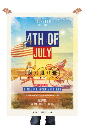 4th of July - Free PSD Flyer Template