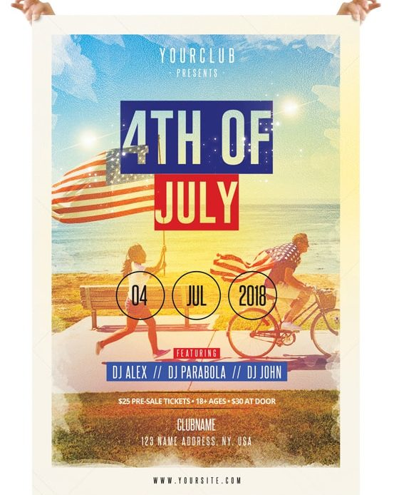 4th Of July Free Psd Flyer Template Pixelsdesignnet