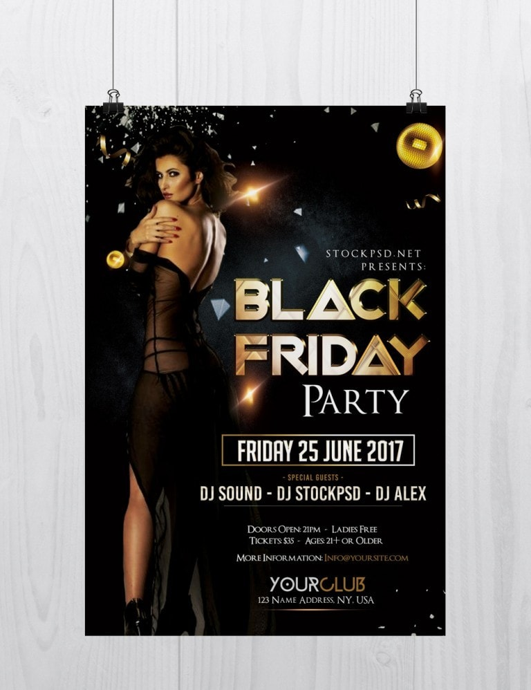 black friday download free psd luxury flyer template
