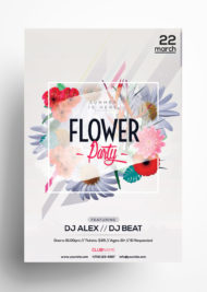 Flower Party - Freebie Summer PSD Flyer Template