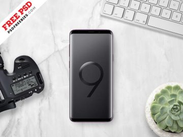 Samsung Galaxy S9 Plus - Freebie PSD Mockup