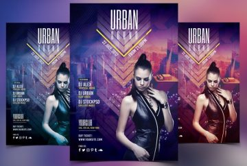 Urban Sound – Free PSD Flyer Template