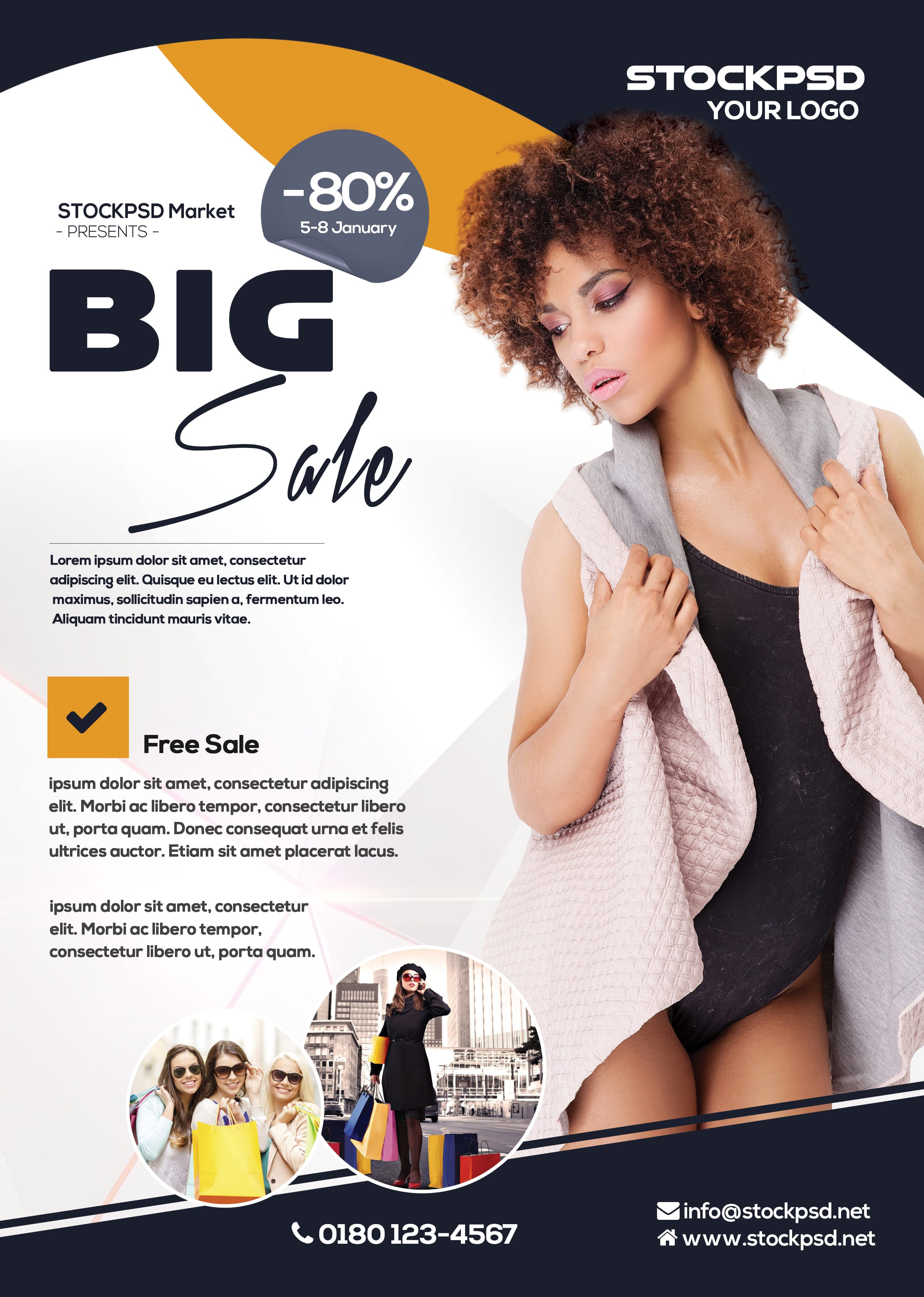 Big Sale – PSD Free Flyer Template