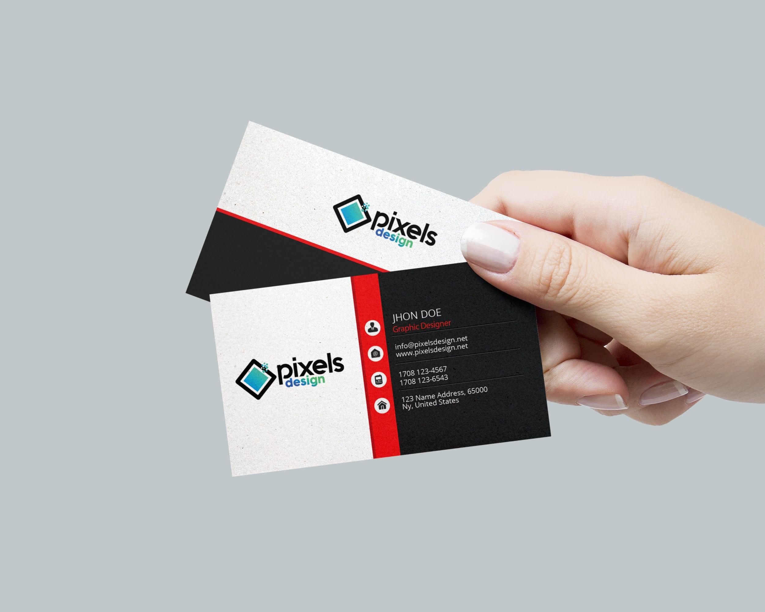 Pixelsdesign | Personal Business Card – Free PSD Template - Pixelsdesign