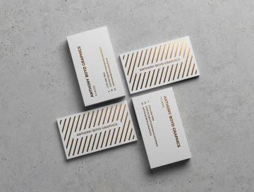 Modern Business Card Showcase - Free PSD Mockup