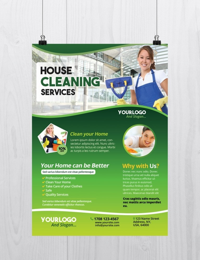 Cleaning Services – Download Free PSD Flyer Template