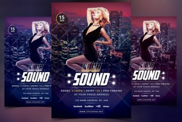 Club Sound – Download FREE PSD Flyer Template
