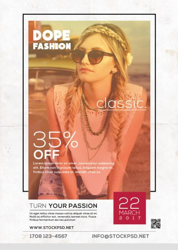 Dope Classic Fashion – Free PSD Flyer Template