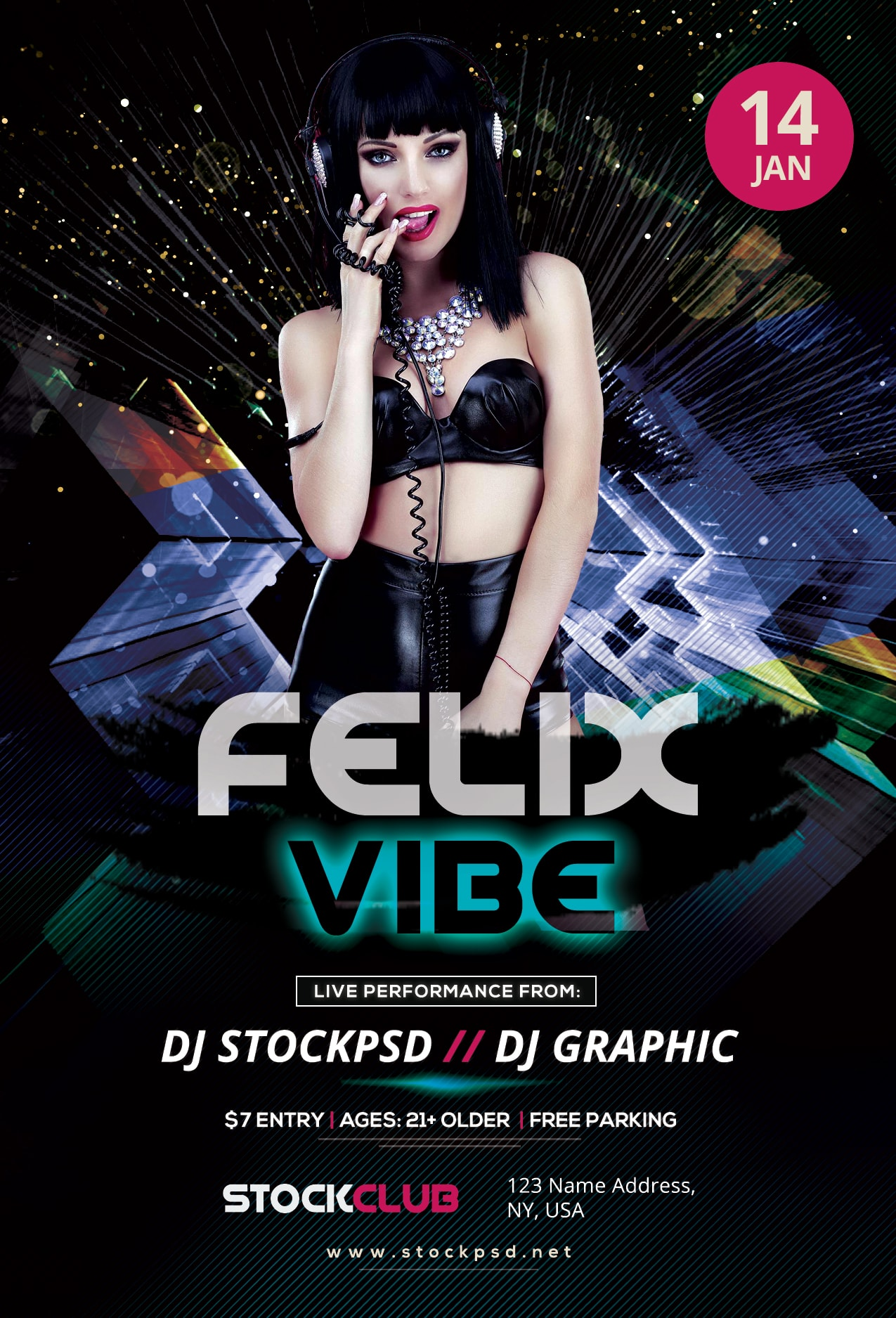 Download Felix Vibe – Free PSD Flyer Template