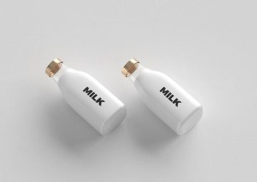 Minimal Bottles - Free PSD Mockup