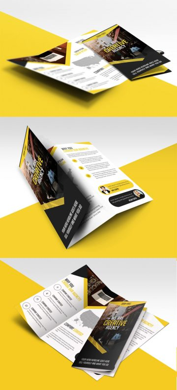 Multipurpose Trifold Business Brochure - Free PSD Template