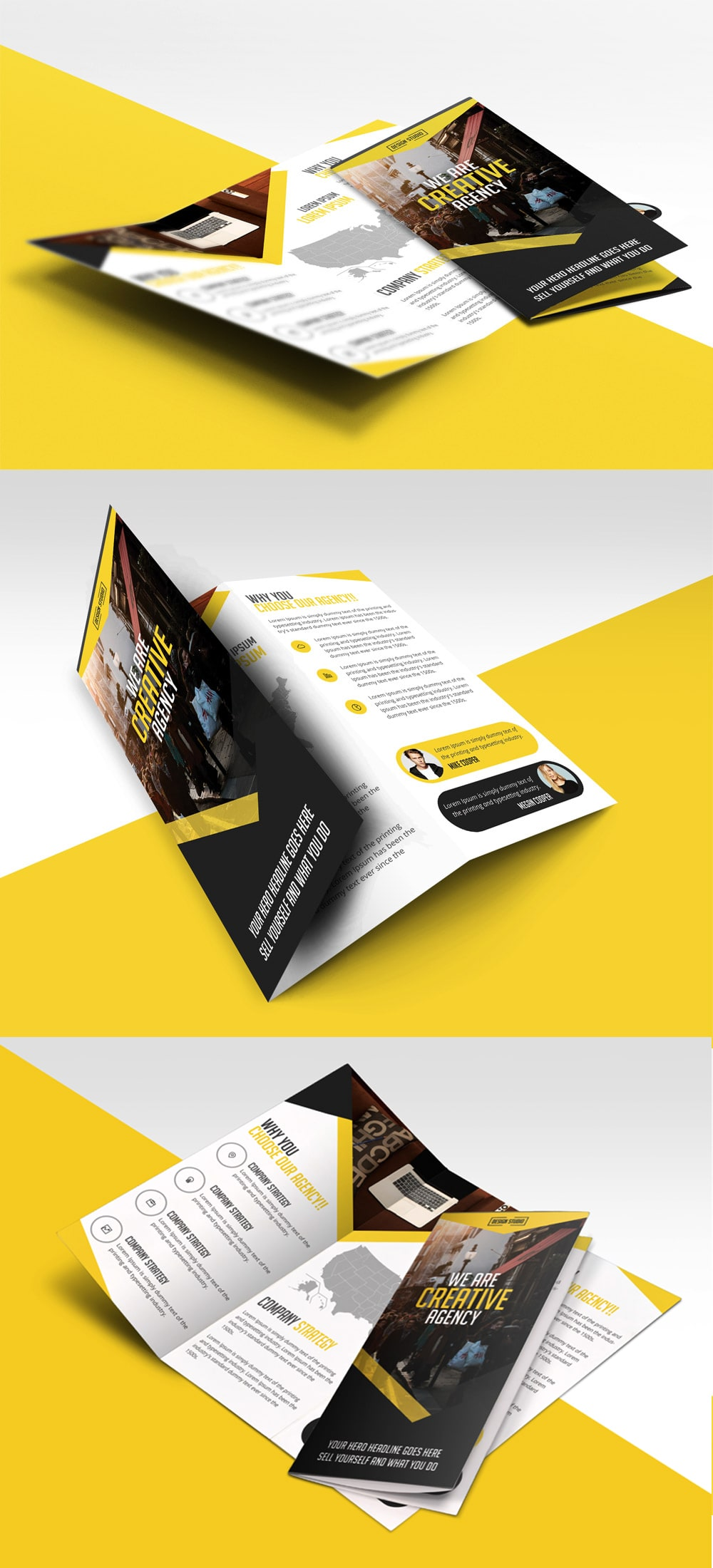 Multipurpose Trifold Business Brochure – Free PSD Template