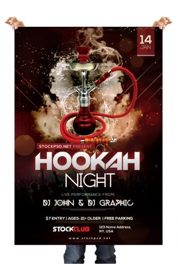 Hookah Night – Free PSD Flyer Template