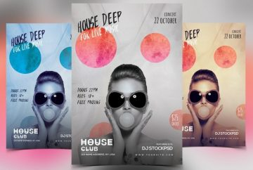 House Deep Live – Free PSD Flyer Template