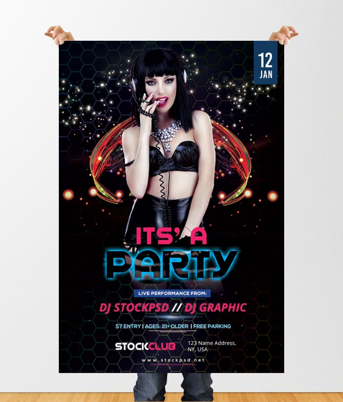 It's Party – Free PSD Flyer Template