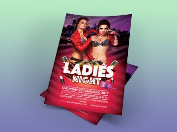 Ladies Night – Download Freebie PSD Flyer Template