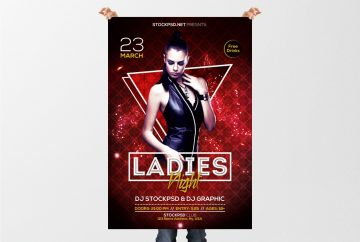 Ladies Night – Download Free PSD Flyer Template