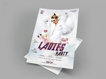 Ladies Party -Download Free PSD Flyer Template