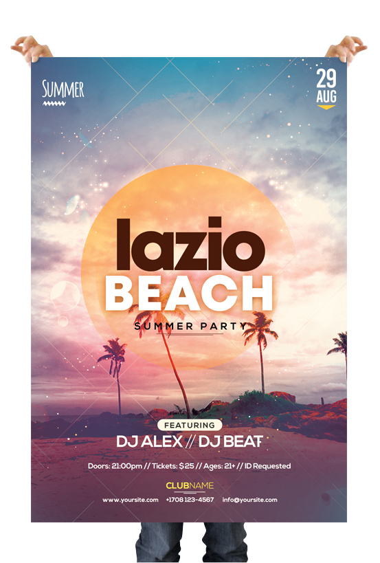 Lazio Beach – Freebie Summer PSD Flyer Template