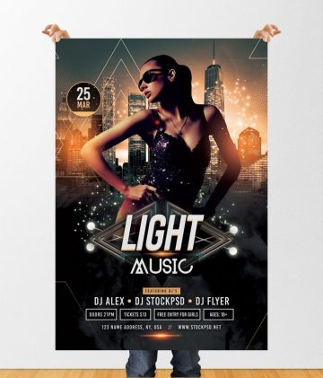 Light Music – Download Free PSD Flyer Template