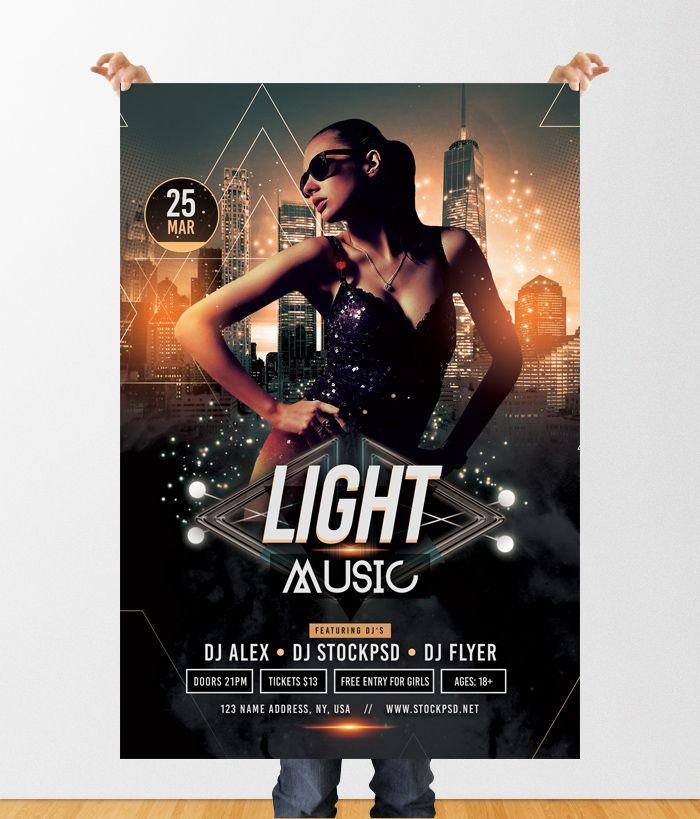 Pixelsdesign Light Music Download Free Psd Flyer Template
