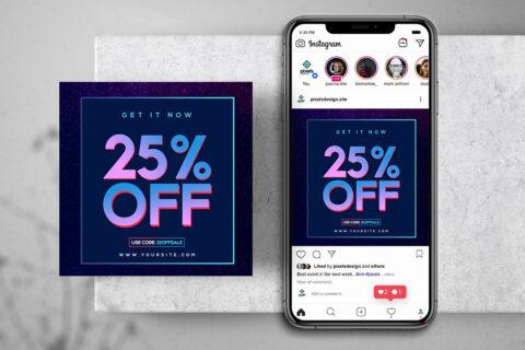 Sale Banner - Free PSD Instagram Banner & Story