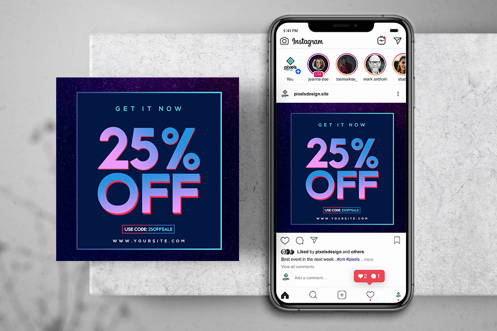 Sale Banner - Free PSD Instagram Banner & Story