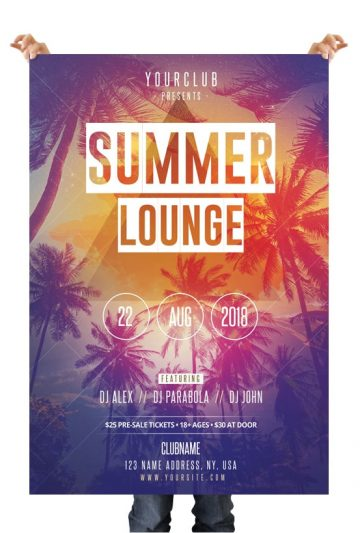 Summer Lounge - Free PSD Flyer Template