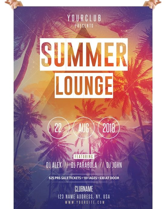 Lounge Flyer Template | Summer Lounge Free Psd Flyer Template Pixelsdesign Net