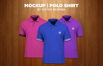 Men's Polo Shirt - Freebie PSD Mockup