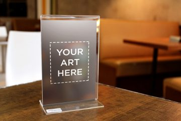 Table Standee Display - Free PSD Mockup