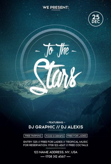 To The Stars - Free PSD Flyer Template