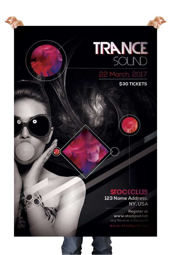 Trance Sound – Free Club PSD Flyer Template