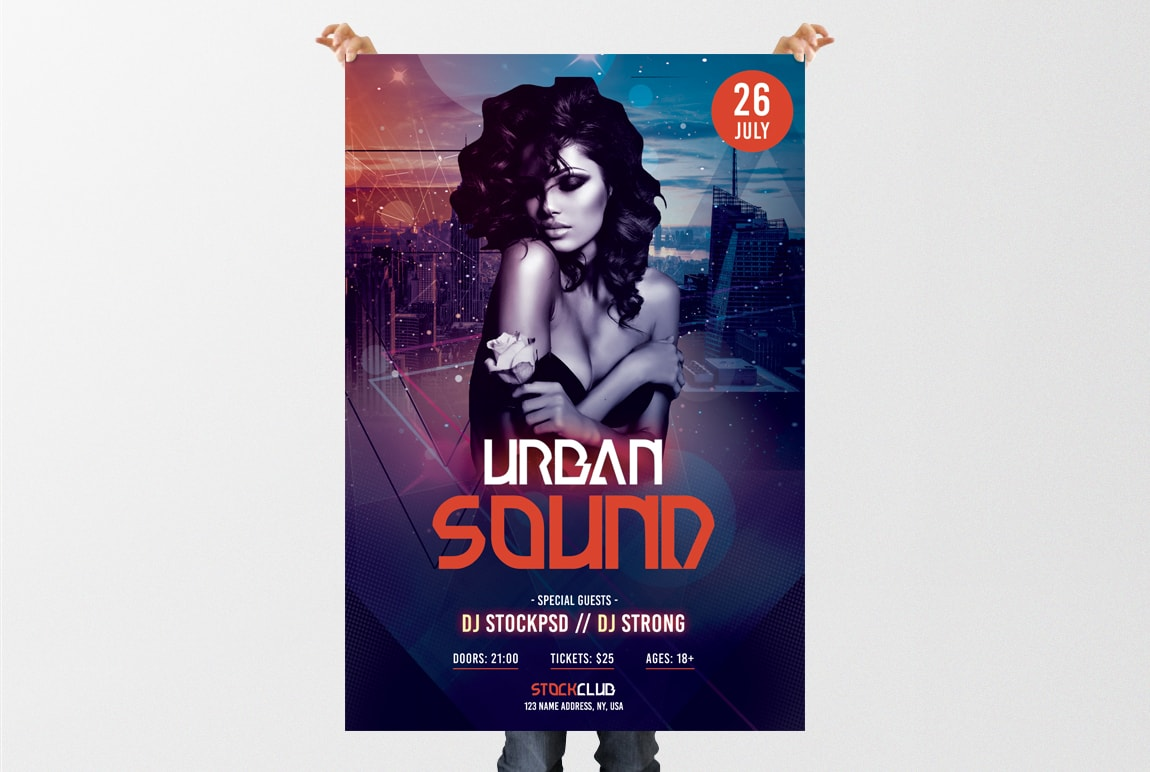 Urban Sound – Download Free PSD Flyer Template