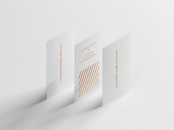 Modern Vertical Business Card - Freebie PSD Mockup