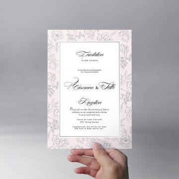 Wedding Invitation - Free PSD Template