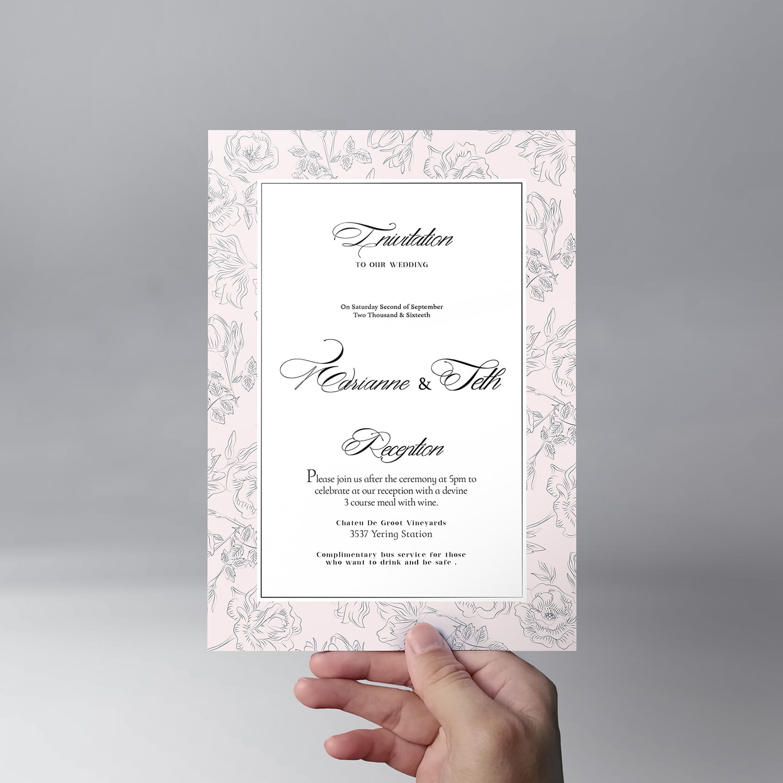 Wedding Invitation – Free PSD Template
