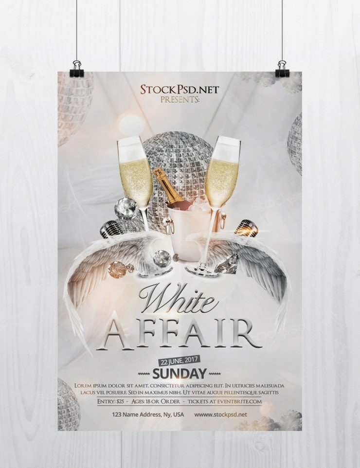 White Affair – Free PSD Flyer Template