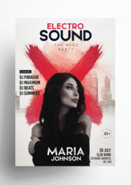 Electro Sound - Free Party PSD Flyer Template