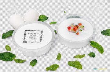 Disposable Soup Bowl - Free PSD Mockup