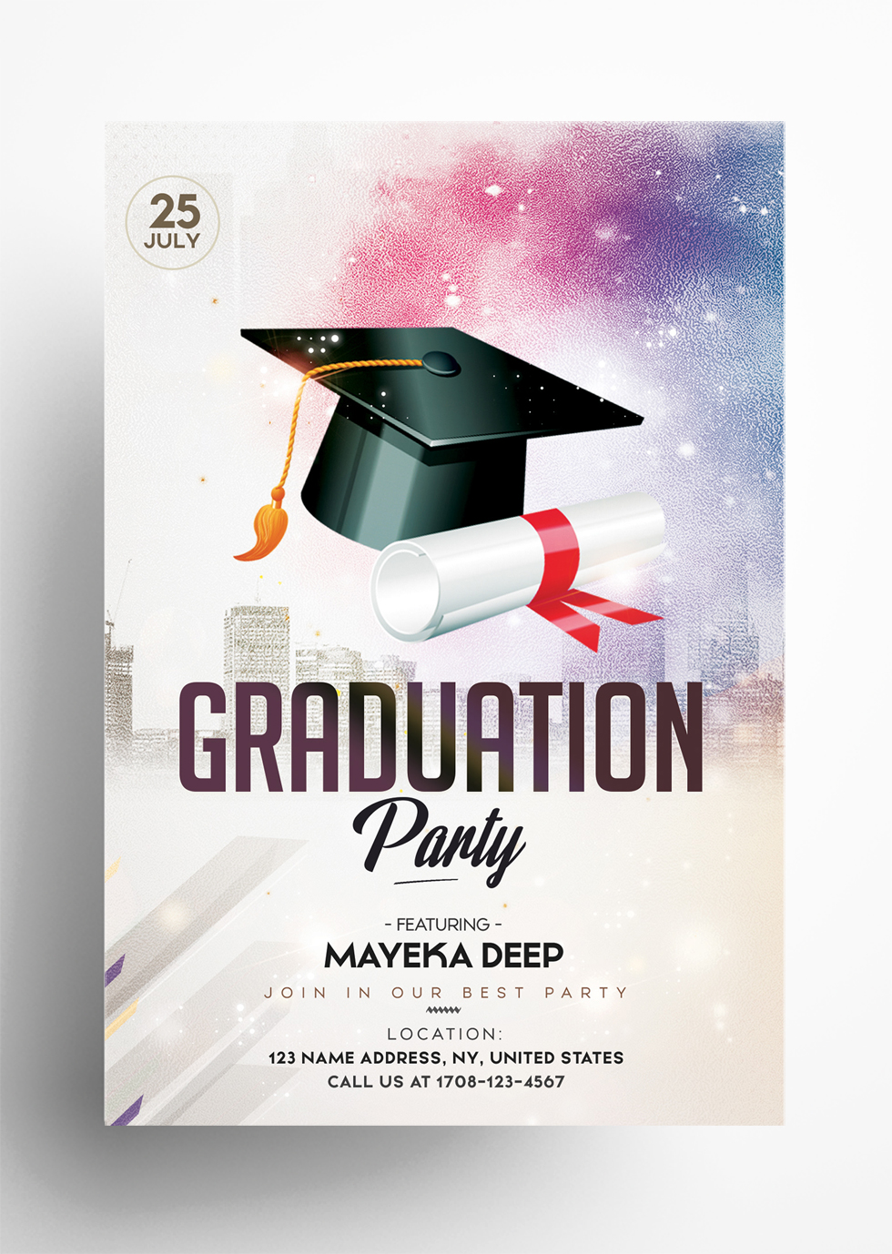Graduation Party - Free PSD Flyer Template