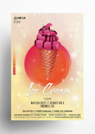 Ice Cream - Free PSD Flyer Template