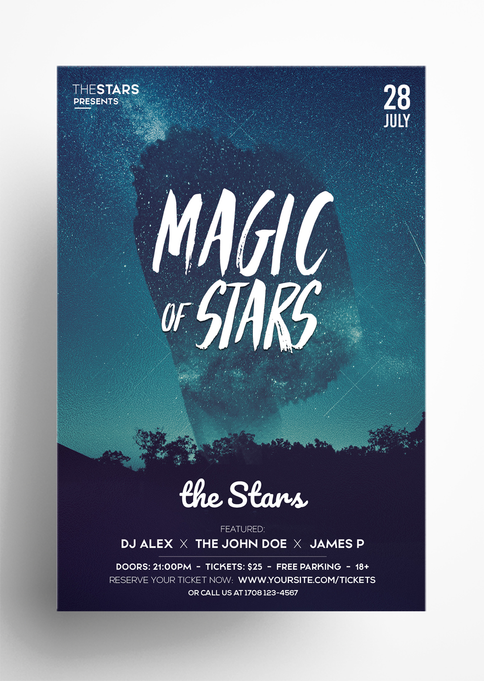 Magic Stars - Free PSD Flyer Template