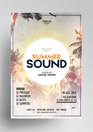 Summer Sound - Free PSD Flyer Template