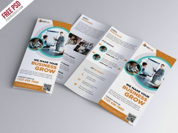Trifold Brochure Template - Free PSD Brochure