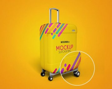 Suitcase Bag – Download 3 Free PSD Mockups