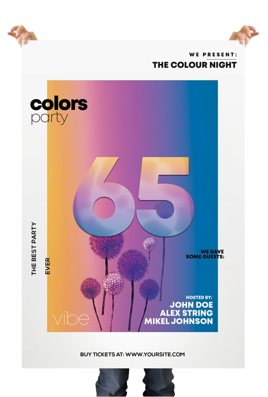 Color Party – Free PSD Flyer Template