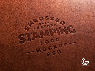 Embossed Leather Logo Mockup - Free PSD Mockups