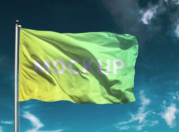 Flag - Download Free Flag PSD Mockup