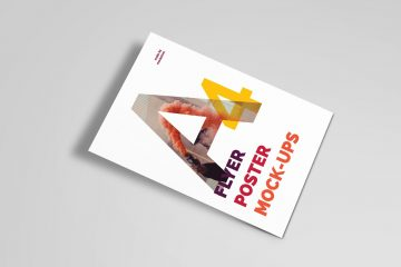 A4 Poster - Free PSD Mockups